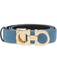 Ferragamo Leather Belt Blue