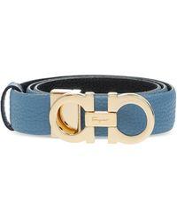 Ferragamo Leather Belt Blue