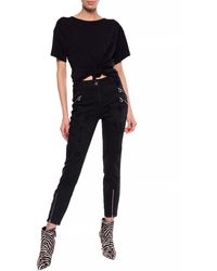 Just Cavalli Jeans With Decorative Zippers Black