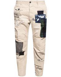 DSquared² Paint-splattered Pants - Grey