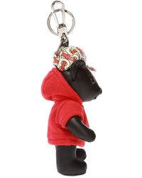 Burberry Keyring With Teddy Bear Charm Unisex Multicolour - Red