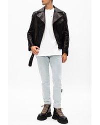Off-White c/o Virgil Abloh Leather Jacket - Black