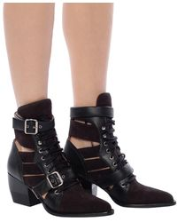 Chloé 'rylee' Heeled Ankle Boots Black