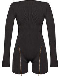Jacquemus 'le Body Yeru' Jumpsuit - Black