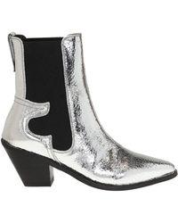 AllSaints 'sara' Cowboy Boots Silver - Metallic
