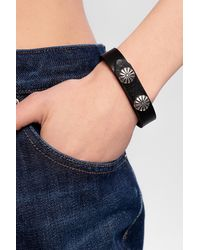 DIESEL Leather Bracelet - Black