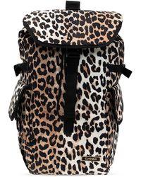 Ganni Animal Motif Backpack Brown