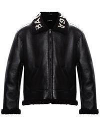 Balenciaga Shearling Jacket Black