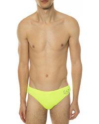 EA7 Logo Swimming Briefs - Yellow