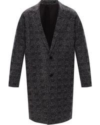 AllSaints 'remmington' Notched Lapel Coat - Grey