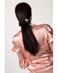 Ganni Hair Tie With Floral Print - Black