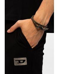 DIESEL Woven Bracelet - Brown