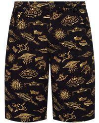 Moschino Shorts With Logo - Black