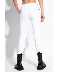 Versace Jeans Couture Logo-printed Joggers - White