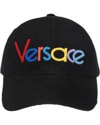 Versace - Black Rainbow Logo Embroidered Baseball Cap - Lyst cc92aff8017e