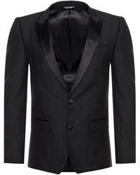 Dolce & Gabbana Tuxedo In Wool - Black