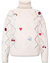 PS by Paul Smith Knit Turtleneck Sweater - Natural