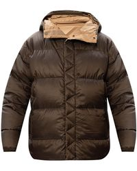 White Mountaineering Hooded Down Jacket Green