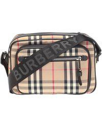 Burberry Men's Shoulder Bag - Natural