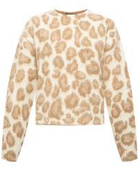 Rag & Bone Cheetah Print Sweater - Natural