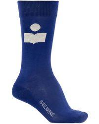 Isabel Marant Socks With Logo - Blue