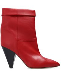 Isabel Marant 'conic' Heeled Boots Red