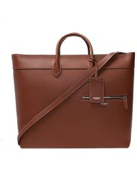Burberry Leather Holdall - Brown