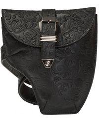 Philipp Plein Embossed Leather Belt Bag - Black