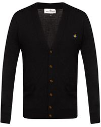 Vivienne Westwood Cardigan With Logo - Black