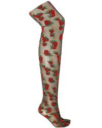 Gucci - Patterned Tights - Lyst
