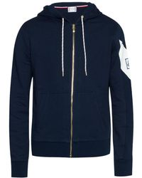 Moncler Gamme Bleu Sweatshirt With Logo Sleeve - Blue