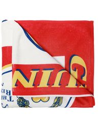 Moschino Patterned Towel - Red
