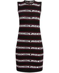 Love Moschino Sleeveless Dress With Logo Black