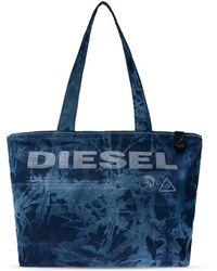 DIESEL Branded Shoulder Bag Navy Blue