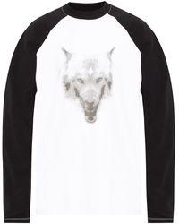 Marcelo Burlon T-shirt With Long Sleeves - White