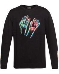 PS by Paul Smith Patterned Jumper - Black
