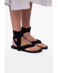 Ganni Tie-up Sandals Black