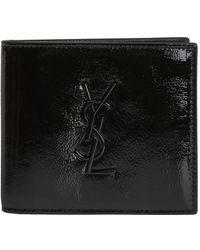Saint Laurent - 'monogram' Bi-fold Wallet - Lyst