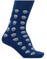 Alexander McQueen Skull Motif Socks Navy Blue