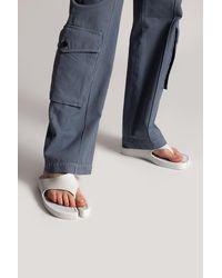 KENZO Flip-flops With Logo - White