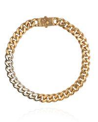 Saint Laurent Choker On Chain Gold - Metallic
