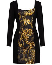 Versace Jeans Couture Long Sleeve Dress - Black