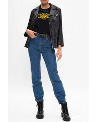 Zadig & Voltaire Leather Biker Jacket Black