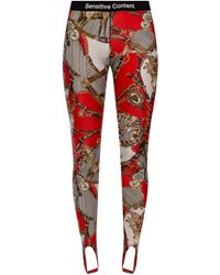Palm Angels Patterned leggings - Red