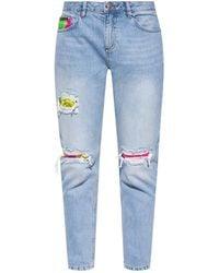 Philipp Plein Boyfriend Jeans - Blue
