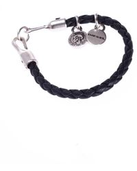 DIESEL - Braided Bracelet With Charms - Lyst