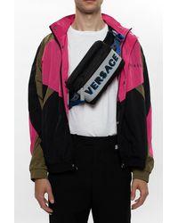 Versace Logo Belt Bag - Black