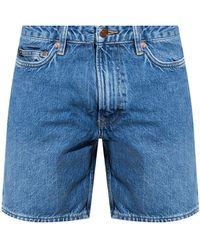 Samsøe & Samsøe Denim Shorts From Organic Cotton - Blue