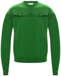 Bottega Veneta Cut-out Jumper Green