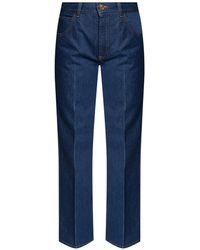 Victoria Beckham Straight Leg Jeans - Blue